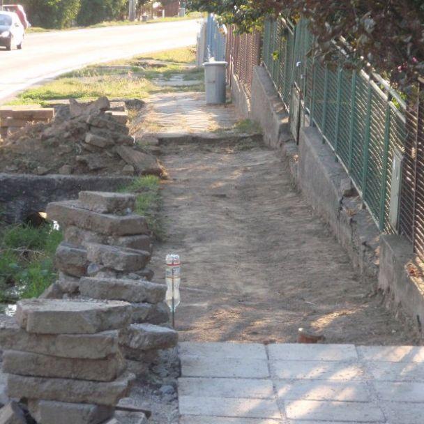 Oprava chodníka