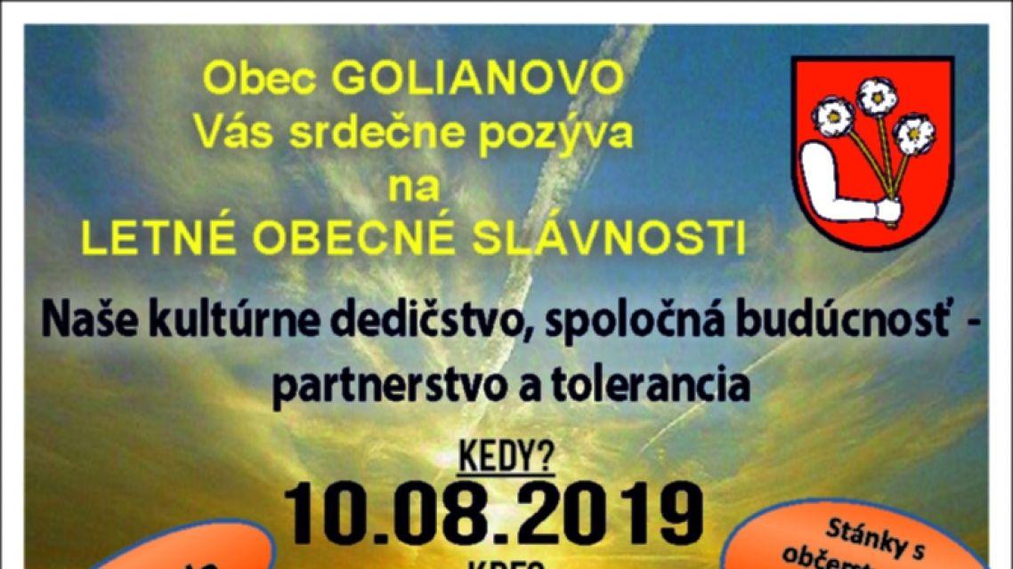 Golianovo - Obecné slávnosti
